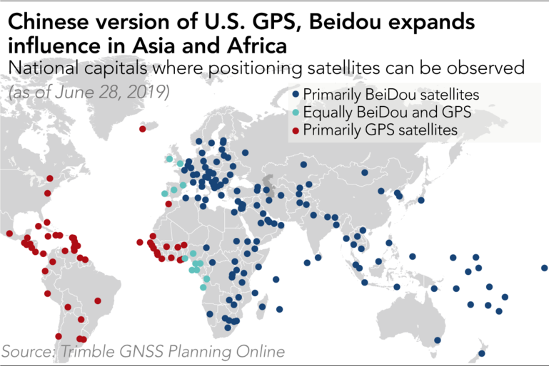 More BeiDou than GPS in 130 of 195 Countries