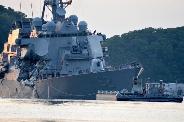 Navy Vessels Jammed then Rammed by Spoofed Merchant Ships?