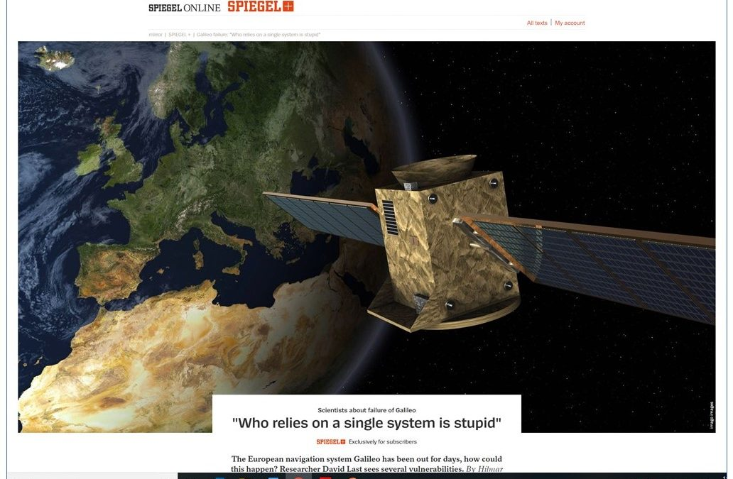 "Galileo Failure: ""Who relies on a single system is stupid"" – Der Spiegel"