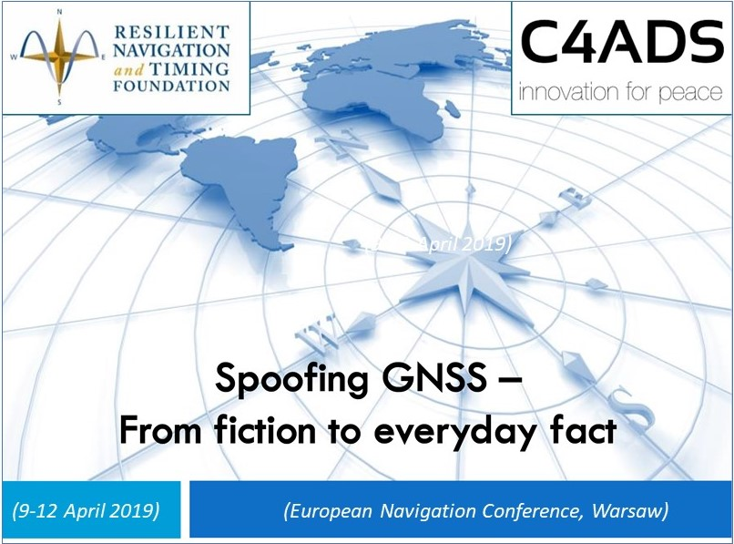 GNSS Spoofing – From Fiction to Everyday Fact, Prof. D. Last at EuroNav Conf, Warsaw
