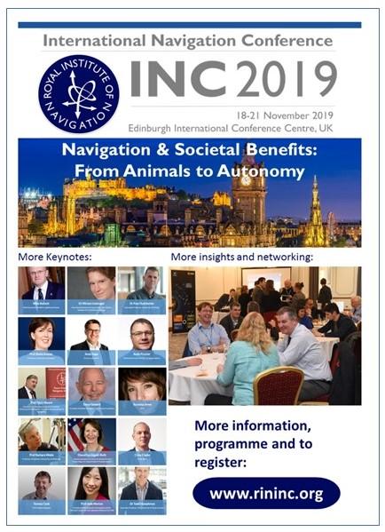 Royal Institute of Navigation – Intl Nav Conf Program Published