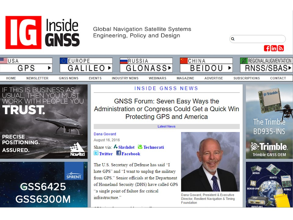 Seven Easy Ways to Get a Win Protecting GPS – Inside GNSS