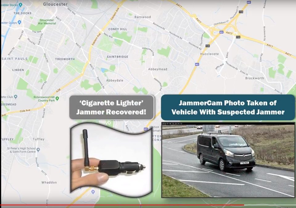 GPS Jammer bust video