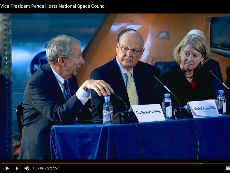 """""""Adversary can bring our economic system near collapse"""" – President's National Space Council Panel"""