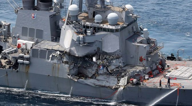 """""""Why Are Our Ships Crashing?"""" US Naval War College Professors' Thoughts @ CIMSEC"""