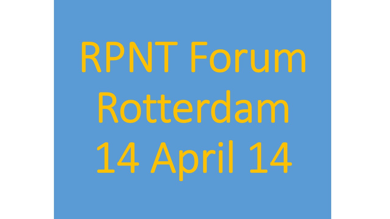 Resilient PNT Forum to be Held in Rotterdam Before ENC 2014