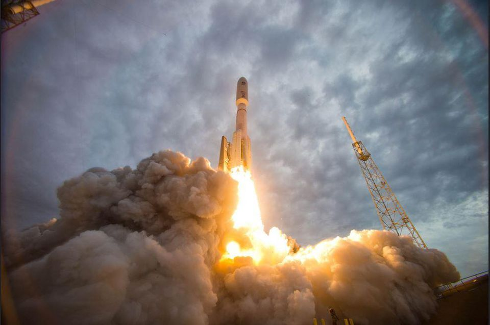 Satellite on Rocket
